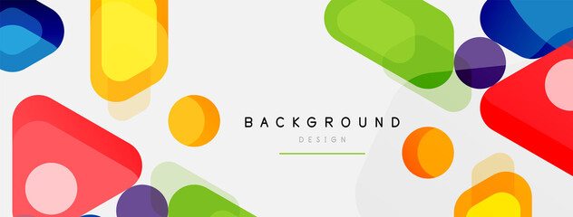 Fototapeta Abstract round geometric shapes and circles background. Trendy techno business template for wallpaper, banner, background or landing obraz