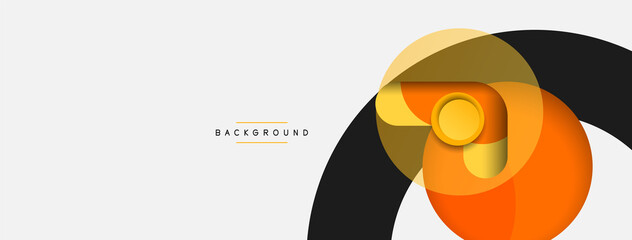 Creative geometric wallpaper. Minimal abstract background. Circles composition vector illustration for wallpaper banner background or landing page