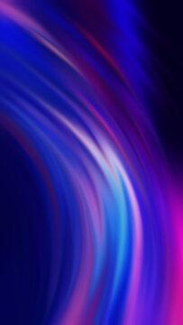 Dark abstract futuristic background. Digital explosion, ultraviolet neon glow, blurred geometric lines.