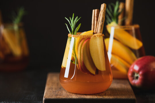 Apple cider old fashioned alcohol cocktail