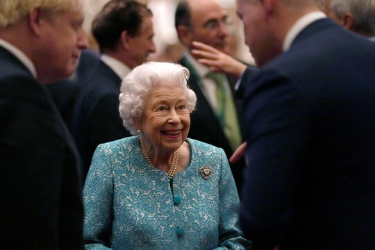 Britain's Queen Elizabeth and members of the Royal Family host a reception for international business and investment leaders at Windsor Castle