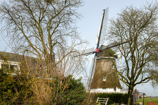 Windmill De Olde Zwarver in Kampen, Overijssel Province, The Netherlands