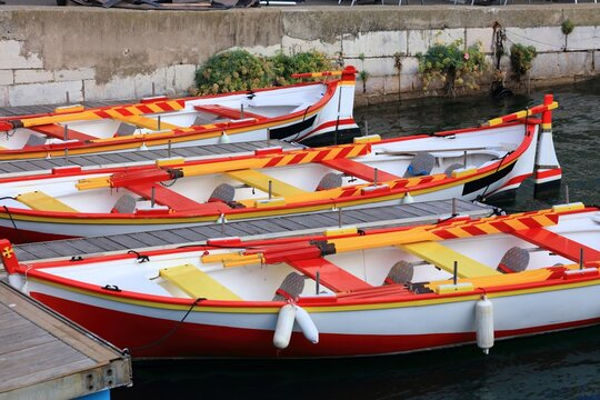 Sete, France - traditional boats