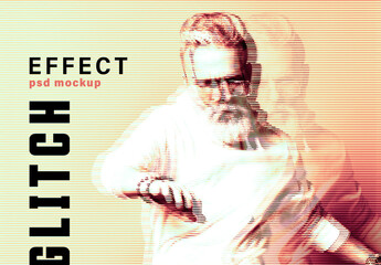 Obraz Glitch Effect Mockup - fototapety do salonu