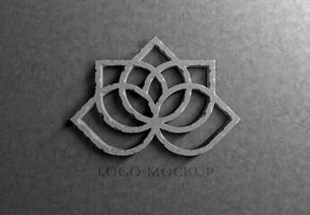 Obraz Logo Effect 3D Carved Stone Mockup - fototapety do salonu