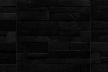 Modern black brick wall texture for background