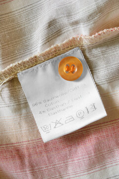 Care and composition clothing label