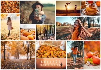 Obraz Photo Collage Frame Effect Mockup - fototapety do salonu