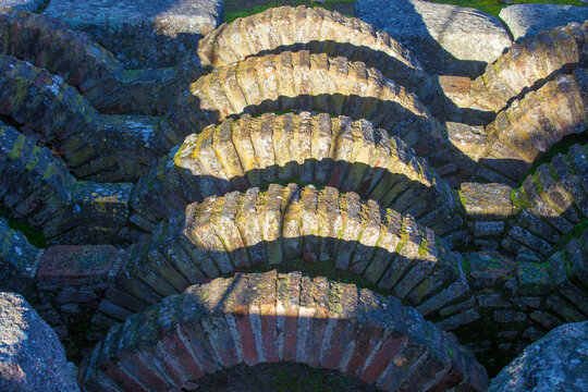 Amphitheatre House baths, Merida, Extremadura, Spain