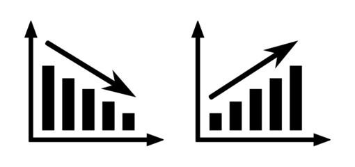 Fototapeta wykres rosnący i malejący obraz