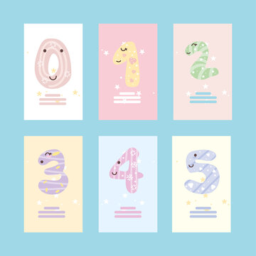 baby numbers banners