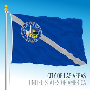 City of Las Vegas flag, Nevada, United States, vector illustration